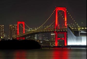 """キムタクも心配""""赤色レインボブリッジ""""東京アラート継続"""